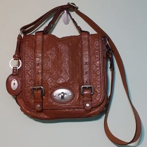 100%LEATHER AUTHENTIC FOSSIL CROSSBODY BAG